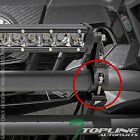 "TEXTURE BLK 2"" TUBE BULL BAR ROLL CAGE MOUNT BRACKET CLAMPS FOR LED LIGHT FR T47"