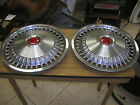 "Pair of 1971 Pontiac Tempest 14"" Hubcaps/Wheel Covers NOS"