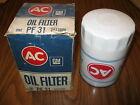 1959-73 AC PF31 WHITE OIL FILTER AMERICAN MOTORS REBEL,AMBASSADOR, V8 & 6CYL NOS