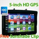 "5"" HD GPS Car Portable Navigation Navigator Navi System Sat Nav Tunez iGO Primo"