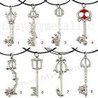 Kingdom Hearts Series Keyblades Metal Pendant Necklace NIB