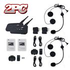 dual Motorcycle 6 Riders 1000M Bluetooth Intercoms+Headsets with Volume Control