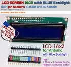 LCD Module Screen 1602 16x2 HD44780 Blue Blacklight for Arduino+FREE Pin Headers