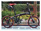 "New Hot Black 20"" Inch Folding Foldable Bike Bicycle Disc Brake Shimano 7 Speed"