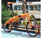 "New Orange 20"" Inch Folding Foldable Bike Bicycle Disc Brake Shimano 7 Speed Hot"