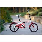 """Brand New Red 16"""" Inch Mini Folding Foldable Bike Bicycle for Children Kids Hot"""