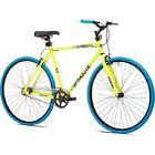 Mens Fixie Bike 700c Bicycle 18 Inch Steel Frame Single Speed Alloy Wheels