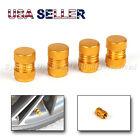 4X STOLEN REPLACEMENT ANODIZED GOLD PAINTED ALUMINUM METAL TIRE VALVE STEM CAPS