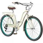 "Schwinn 26"" WOMEN'S CRUISER BIKE Retro 7-Speed Shimano rear Cream Bicycle"