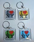 I Love(Heart) New York(NY) Square Plastic Keychain (Choose Color) BRAND NEW