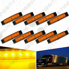 10x Amber 12V 6LED Side Marker Indicators Lights Lamp For Truck Trailer Lorry RV