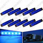 10X 12V 6LED Blue Clearance Side Marker Trailer Navigation Light Van Marine Boat