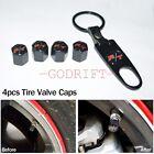 4pcs R/T Logo Fine Car Black Tire Valve Stems Tyre Wheel For Car Brand New Dodge