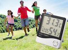 Digital LCD Thermometer Hygrometer Temperature Humidity Meter Gauge Clock NEW