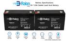 Raion Power 2 Pack - RG06120T1 - 6V 12AH Battery Replaces BB Battery BP12-6