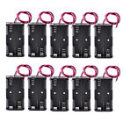 10PCS Plastic Battery Storage Case Box Holder For 2X AA 2xAA 1.5V with wire New
