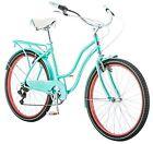 "Schwinn 26"" Ladies Perla 7 Speed Cruiser Bike, 26-Inch, Blue, Classic Comfort"