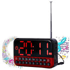 LED Screen Customizable Alarm Clock + Radio + Speaker + Card Reader MP3 Player