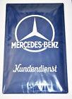 "ORIGINAL MERCEDES - BENZ "" KUNDENDIENST "" SERVICE SHEET METAL PLATE CAR GARAGE"