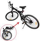 "Black 26"" Folding Mountain Bicycle 7 Speed Shimano Cycling Bike Fold Storage"