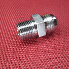 """Parker® -08 AN Flare x 3/8"""" NPT Male Straight Connector 316 Stainless Steel -8"""