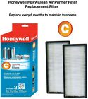 Honeywell HEPA Clean Replacement Filters Air Dust Pollen Dander Smoke (2-Pack)