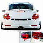 2pc Cool Funny Bleeding Red Blood Drip Zombie Reflective Car Vinyl Decal Sticker