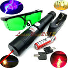 RX6 650nm Adjustable Focus BURNING Red Laser Pointer &Battery&Charger&Goggles