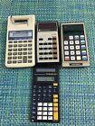 LOT OF VTG Calculator Canon P-2D, TEXAS  T1-30 SLR, TEXAS T1-1200, COMMODORE 989