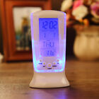 Led Digital Alarm Clock Blue Backlight Display Digital Hot Thermometer Calendar