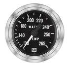 """Stewart Warner Temperature Gauge 100-265 F w/ 144"""" Tube"""