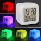Modern Color Changing LED Light Digital Alarm Clock Calendar Thermometer Snooze