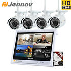 """720P HD 4ch WiFi NVR 12"""" LCD Infrared Surveillance Network IP Camera System 1TB"""