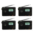 US 4×TIVIDIO World Band FM/AM/SW Mini Radios Receiver MP3 Player Rechargeable