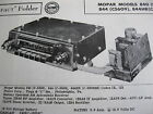 1956,1957 CHRYSLER PRODUCTS MOPAR 840, 844, & 844HR RADIO PHOTOFACT