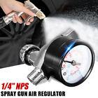 "1/4"" HVLP Spray Gun Air Regulator W/ Pressure Gauge Diaphragm Control Auto Paint"