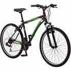 "26"" Schwinn Sidewinder Men's Mountain Bike, Matte Black/Green Bicycle Cycling"