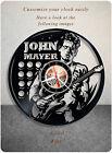 John Mayer vinyl clock, vinyl record clock for home decor, wall record clock 266