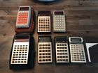 VINTAGE TEXAS INSTRUMENTS CALCULATOR LOT OF 7 - ALL WORKING