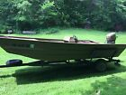Voyager 1660 with Mercury 35 hp Duck Hunting and Fishing Jon Boat