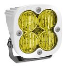 White Squadron Pro Amber LED Wide Cornering Lights Baja Designs 490015WT
