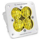 White Flush Mount Squadron Pro LED Amber Driving/Combo Lights Baja Designs