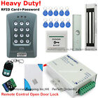 RFID Card and Password Door Access Control System+Magnetic Lock+Remote+Doorbell