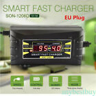 12V 6A Smart Fast Lead-acid Battery Charger Car Motorcycle LCD Display EU Model
