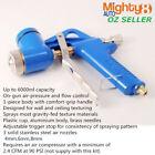 Professional Texture Air Hopper Spray Gun 6L Cup 4/6/8mm 3 Nozzle Render Plaster