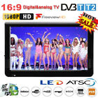 "12"" inch LCD Digital TV Player 1080P Widescreen Television AV/USB/TF/HDMI Lot JS"