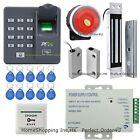 ZKTeco Fingerprint and RFID Card Door Access Control System+Door Sensor+Siren