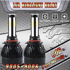 2Set COB LED Headlight Headlamp Bulbs 160W 9005+9006 High & Low Beam Combo Kit