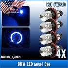 4 x ULTRA BLUE ANGEL EYES LED HALO Ring Marker Light For BMW E39 E53 E60 E61 USA