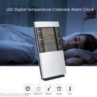 Multifunction Digital Temperature Humidity Alarm Desk Clock+LED Screen 12/24H
